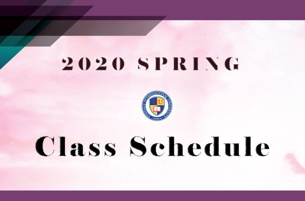 Schedule of Class 2020 Spring